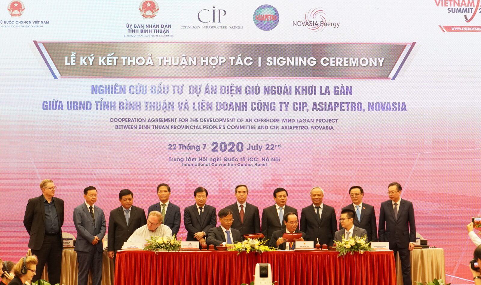 La Gan offshore wind project signs collaboration agreement with local province to develop 3.5GW in Vietnam